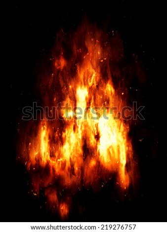 An image of a nice fire texture - stock photo