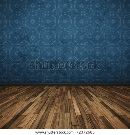 An image of a nice floor dark blue for your content - stock photo
