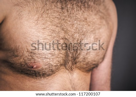 An image of a nice hairy chest - stock photo