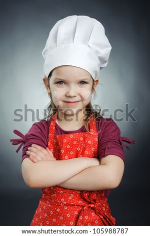 An image of a nice little chef - stock photo