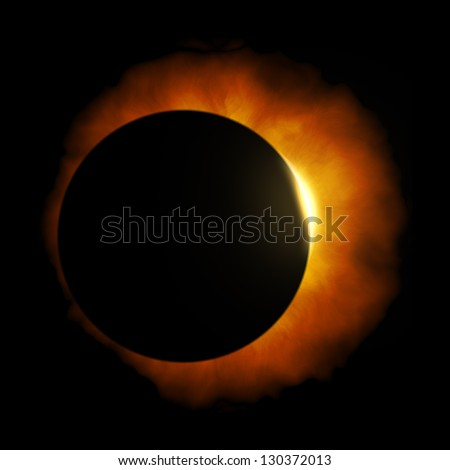 An image of a nice sun eclipse - stock photo
