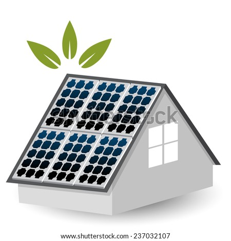 An image of a solar panels icon. - stock photo