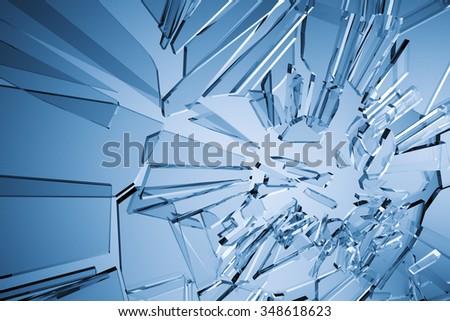 An image of a stylish glass background - stock photo