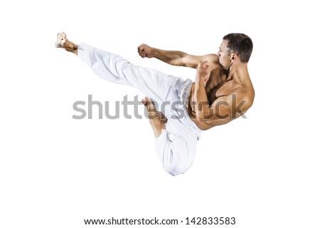An image of a taekwondo martial arts master - stock photo
