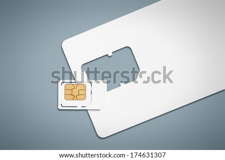 An image of a typical sim card - stock photo