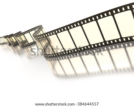 An image of a vintage film strip - stock photo
