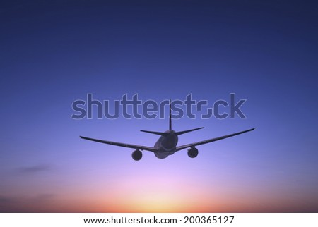An Image of Airliner - stock photo