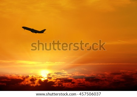an image of an airplane - stock photo