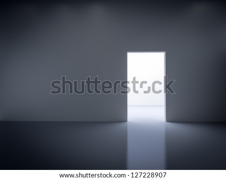 An image of an empty dark room - stock photo