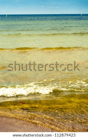 An image of baltic sea at sunny day - stock photo