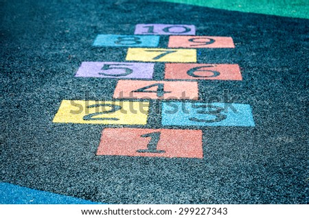 An image of colorful number on playground - stock photo