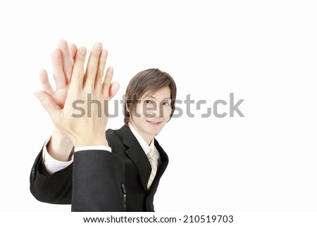 An Image of High Five - stock photo