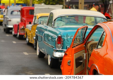 An Image of Hot Rod Show - stock photo
