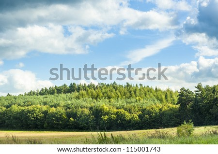 An image of landscape on late summer - stock photo