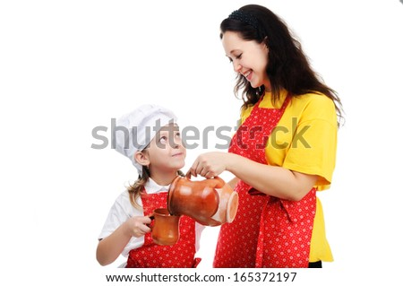 An image of mother with dauther - stock photo
