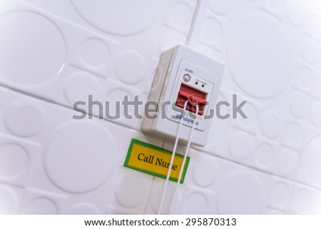 An Image of Nurse Call Switch in hospital - stock photo