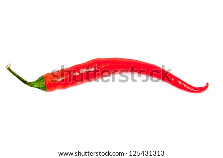 An image of red chilli pepper isolated - stock photo