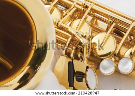 An Image of Saxophone - stock photo