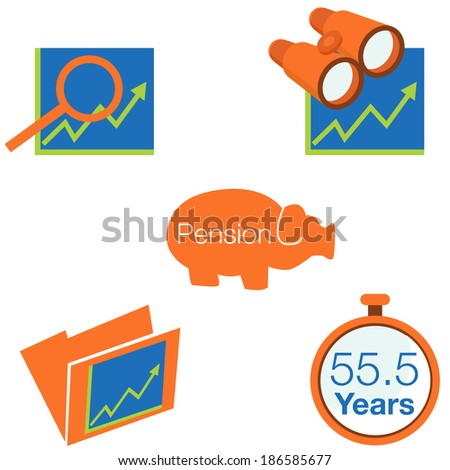 An image of stock investment icons. - stock photo