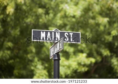 An Image of Street Sign - stock photo