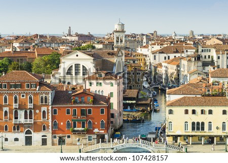 An image of the beautiful Venice in Italy - stock photo
