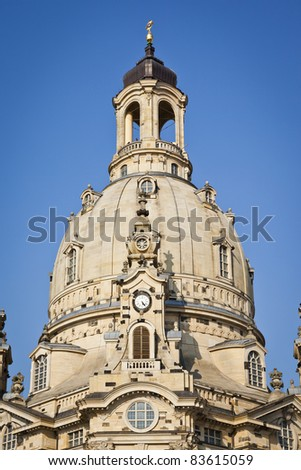 An image of the famous Frauenkirche in Dresden Germany - stock photo