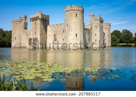 An image of the great Bodiam Castle in England - stock photo