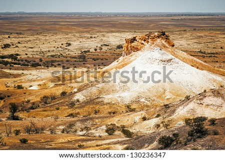 An image of the great Breakaways at Coober Pedy Australia - stock photo