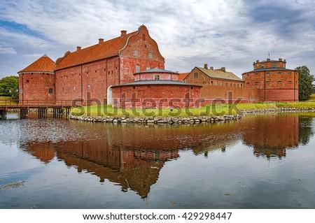 An image of the Landskrona citadel in the skane region of Sweden. - stock photo