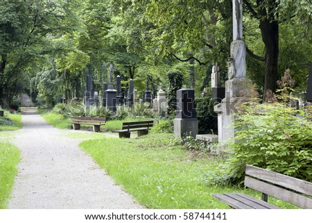 An image of the munich south cemetery - stock photo