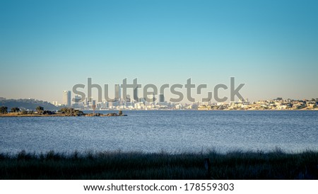 An image of the skyline of Perth - Australia - stock photo
