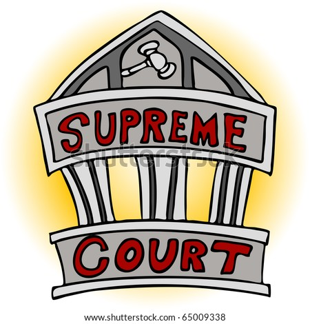 An image of the supreme court building. - stock photo