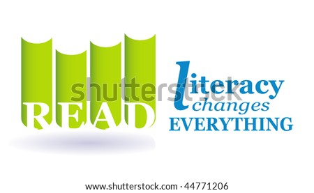 An image to promote literacy through reading. Perfect for on-line social media campaigns. - stock photo