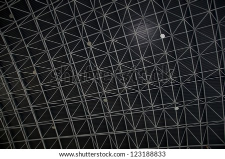 An industrial interior ceiling view. - stock photo
