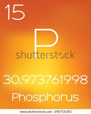 An Informative Illustration of the Periodic Element - Phosphorus - stock photo
