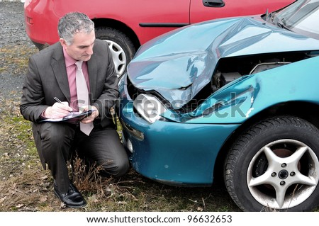 An insurance agent. - stock photo