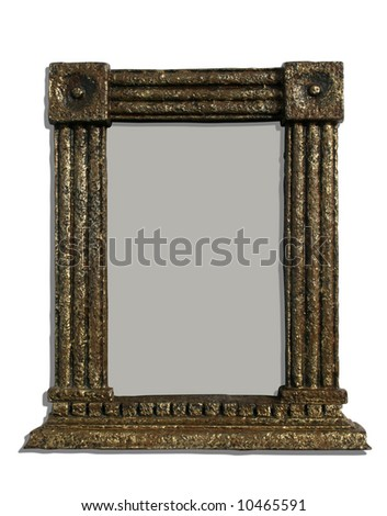 An isolated colonnial photoframe - stock photo