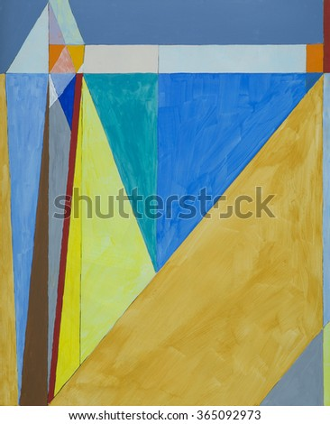 an modernist painting; geometric abstraction - stock photo
