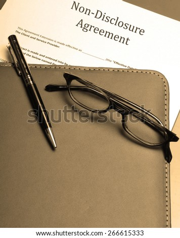An official non-disclosure agreement - stock photo