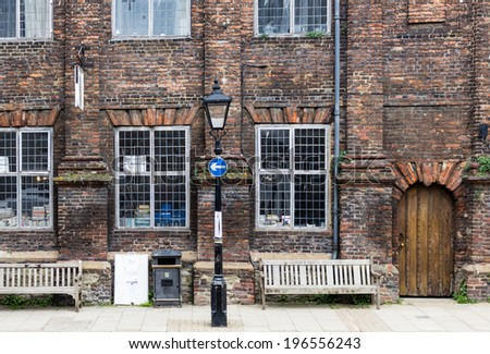 An old brick house seen in Rye, Kent, UK - stock photo
