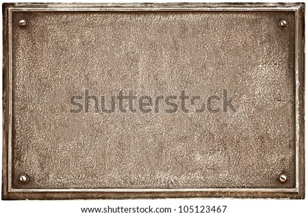 An old cast-iron plaque on the wall - stock photo
