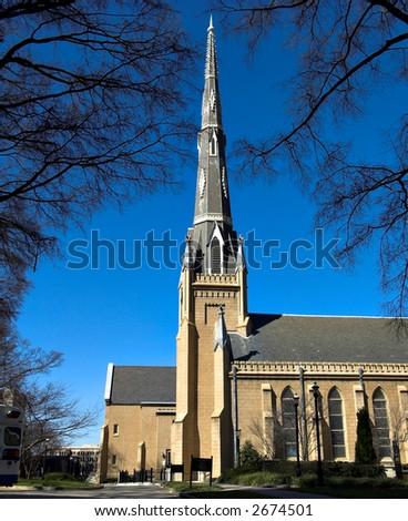 An old church in North Carolina USA - stock photo