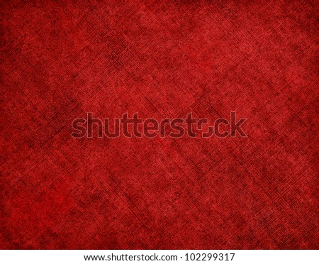 An old cloth book cover with a diagonal red crosshatch pattern and grunge stains.  Image has a pleasing grain texture at 100%. - stock photo