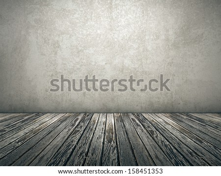 An old empty room background for your own content - stock photo