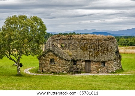 An old house in Scotland - stock photo