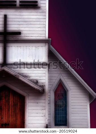 An old inviting church. - stock photo