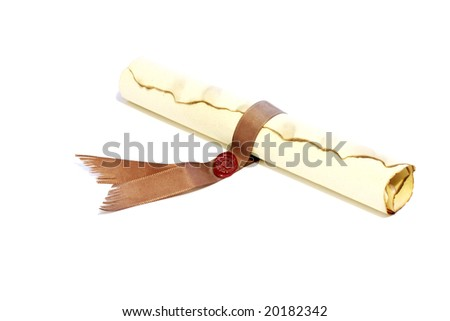 An old parchment - stock photo
