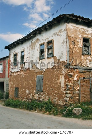 An old rural house - stock photo
