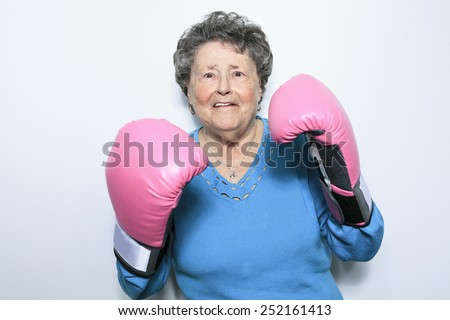 An old senior woman fight for cancer - stock photo