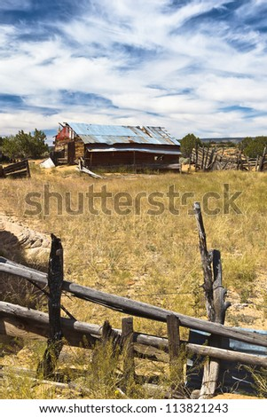 An old shack in the Paria Wilderness - stock photo